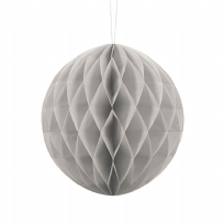 20cm Honeycomb Ball - Grey